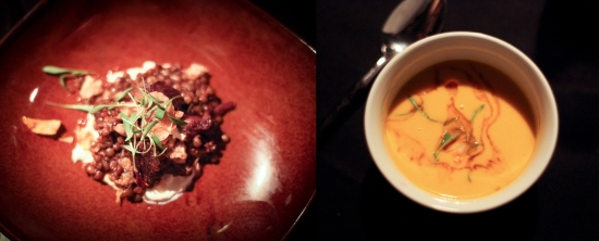 ... Squash Soup with Poached Lobster… unbelievable flavors abound