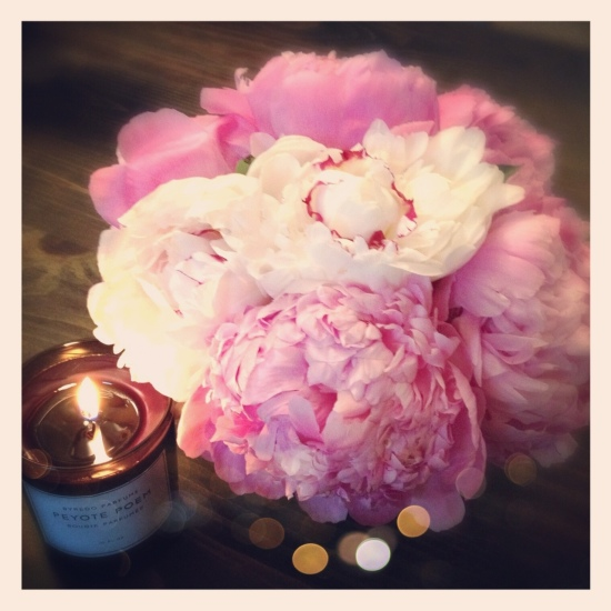 Miss Renaissance Peonies and Candle