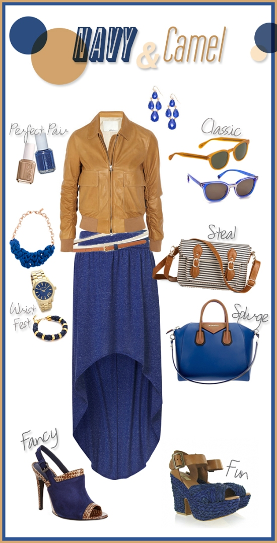Miss Renaissance Moodboard Color Navy & Camel