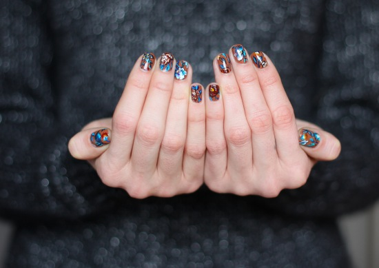 Miss Renaissance's Floral Tapestry Manicure, by Astrowifey