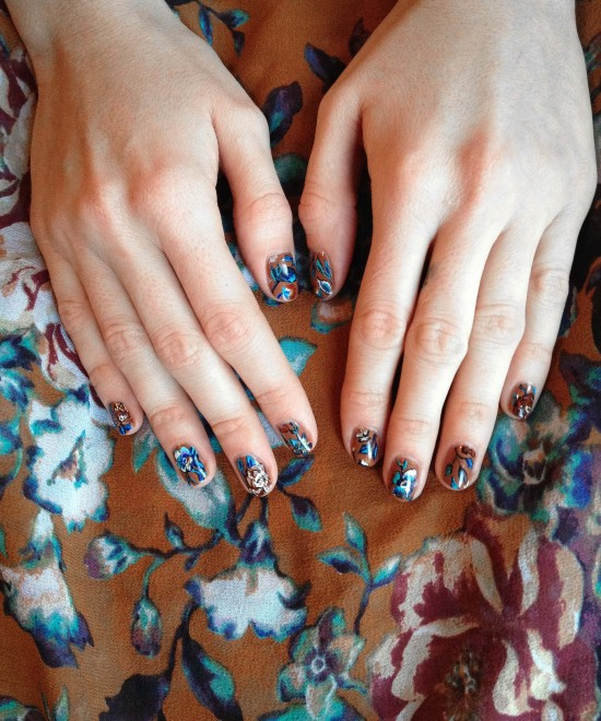 Floral Tapestry Manicure by Astrowifey