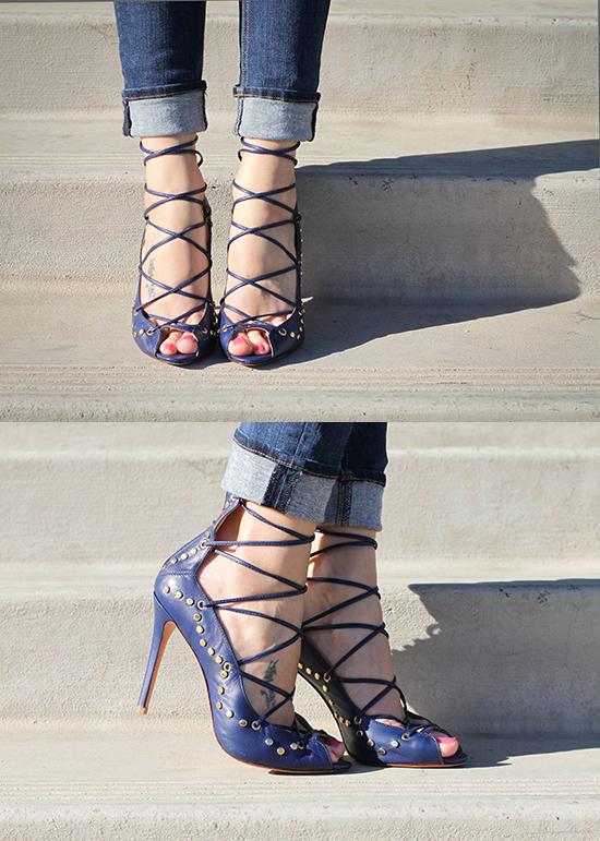Schutz lace-ups.