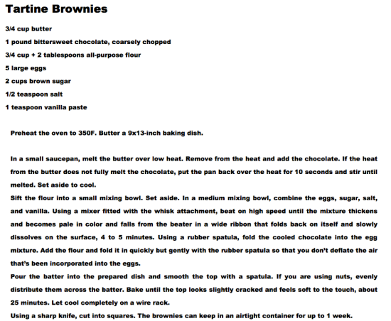 Tartine Brownies