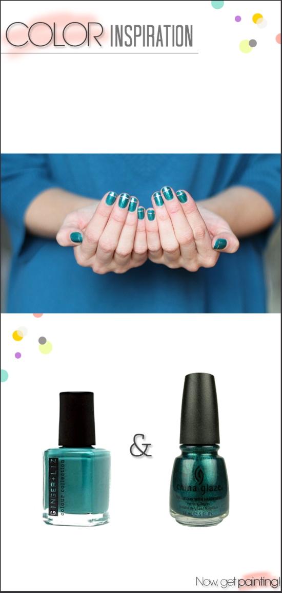 Emerald Glitz Manicure by Astrowifey