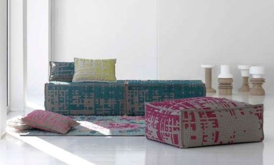 Cross Stitch Furniture by Charlotte Lancelot