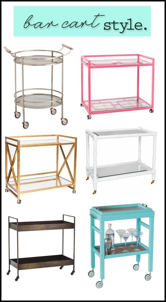 Bar cart shopping