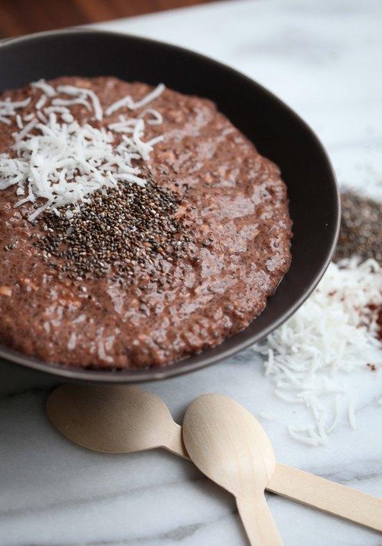 Chocolate-Coconut Chia Pudding by Miss Renaissance