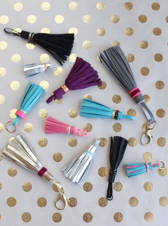 DIY Leather Tassels by Miss Renaissance