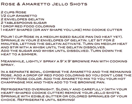 Rose Amaretto Jello Shots by Miss Renaissance