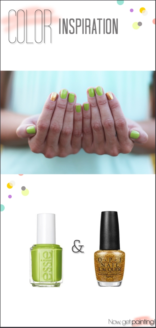 Lime Green Manicure by Miss Renaissance