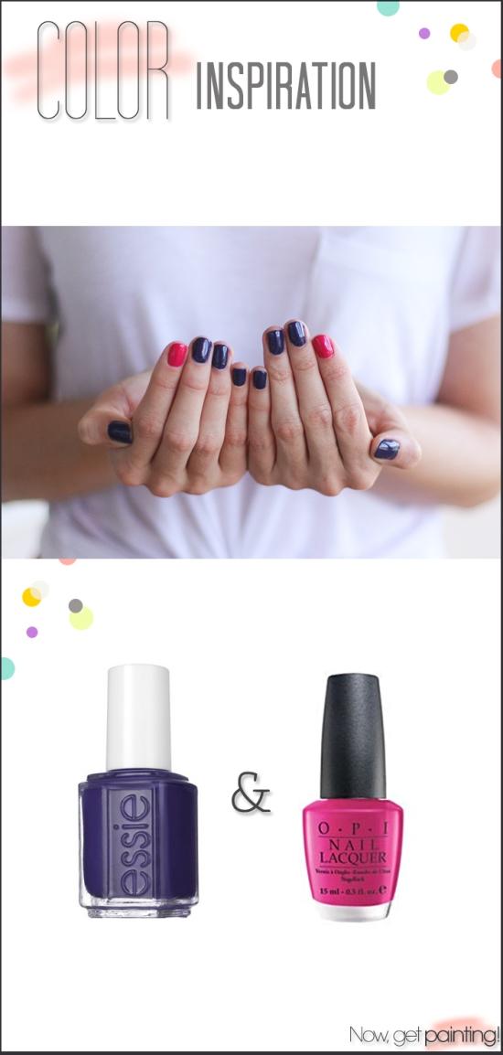 Purple & Pink Mani